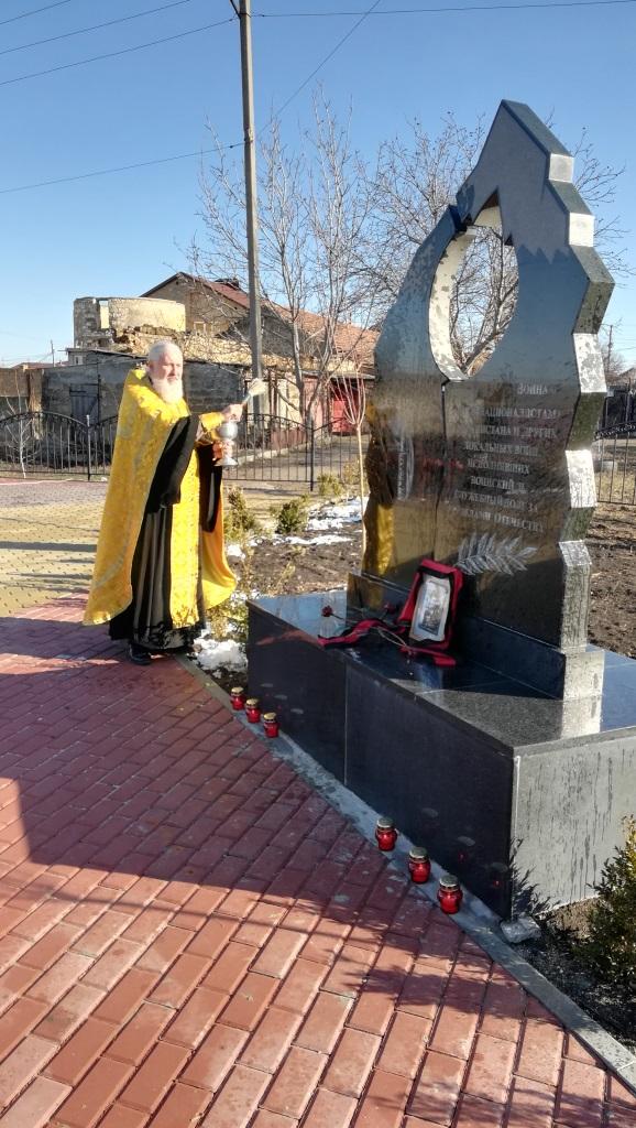 В с. Чистенькое  совершен чин  освящения памятника воинам-интернационалистам
